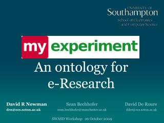 An ontology for  e-Research