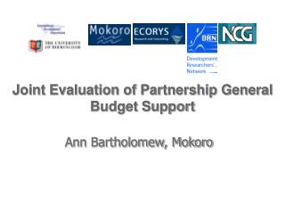 Joint Evaluation of Partnership General Budget Support