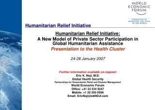 Humanitarian Relief Initiative