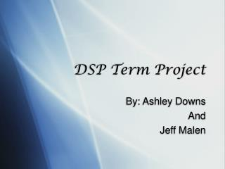 DSP Term Project