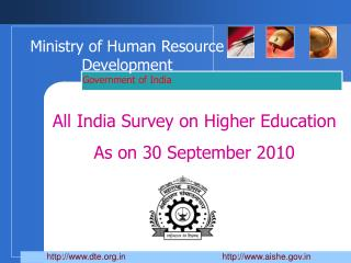 Ministry of Human Resource Development  Government of India