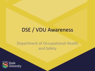 DSE / VDU Awareness