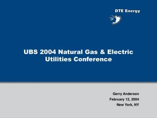 UBS 2004 Natural Gas & Electric Utilities Conference