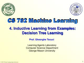 Learning Agents Laboratory Computer Science Department George Mason University