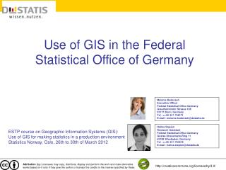 Use of GIS in the Federal Statistical Office of Germany