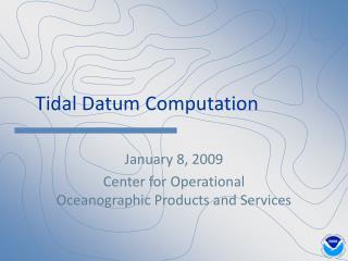 Tidal Datum Computation