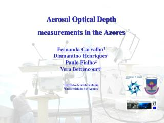 Aerosol Optical Depth  measurements in the Azores