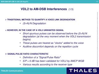 VDL2 to AM-DSB Interferences   (1/3)