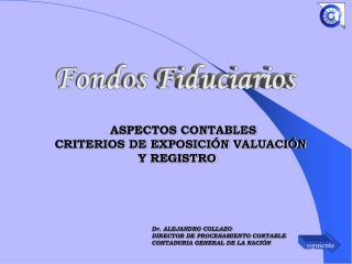 Dr. ALEJANDRO COLLAZO DIRECTOR DE PROCESAMIENTO CONTABLE CONTADURIA GENERAL DE LA NACIÓN