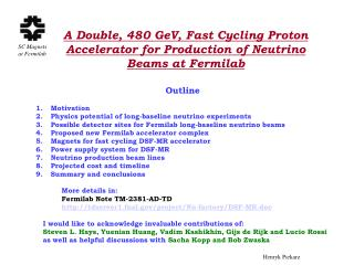 A Double, 480 GeV, Fast Cycling Proton Accelerator for Production of Neutrino Beams at Fermilab