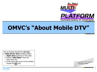 "OMVC's ""About Mobile DTV"""