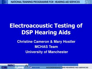 Electroacoustic Testing of DSP Hearing Aids
