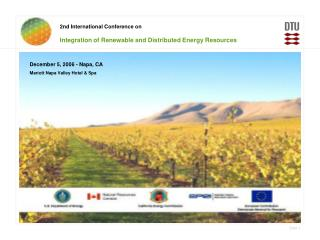 2nd International Conference on Integration of Renewable and Distributed Energy Resources