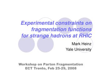 Experimental constraints on fragmentation functions for strange hadrons at RHIC