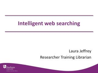 Intelligent web searching