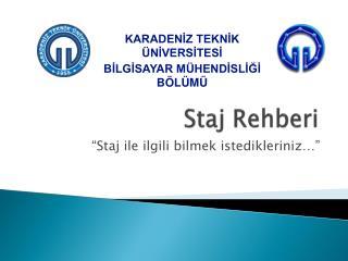 Staj Rehberi