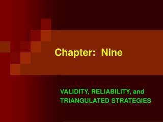 Chapter:  Nine