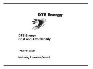 DTE Energy Cost and Affordability