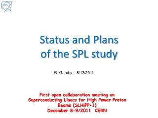 Status and Plans  of the SPL study