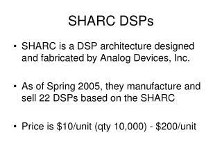 SHARC DSPs