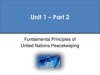 Unit 1 – Part 2