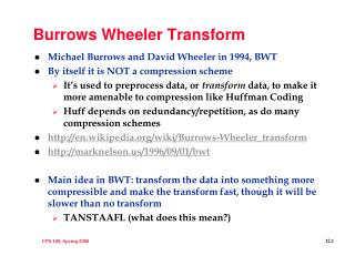 Burrows Wheeler Transform