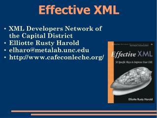 Effective XML