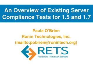 An Overview of Existing Server Compliance Tests for 1.5 and 1.7