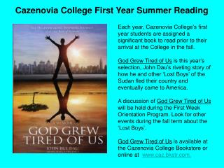 Cazenovia College First Year Summer Reading
