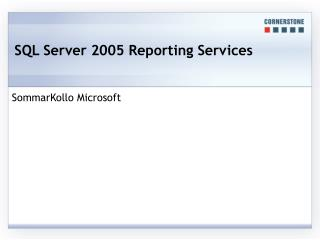 SQL Server 2005 Reporting Services