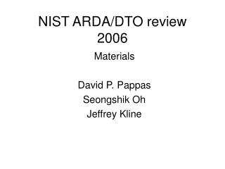 NIST ARDA/DTO review 2006