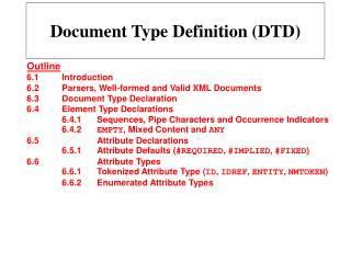Document Type Definition (DTD)