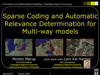 Sparse Coding and Automatic Relevance Determination for Multi-way models