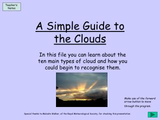 A Simple Guide to the Clouds