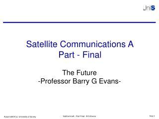 Satellite Communications A Part - Final