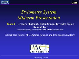 Stylometry System Midterm Presentation