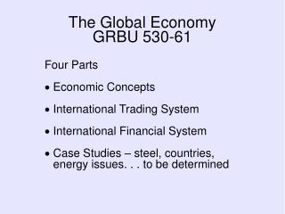 The Global Economy GRBU 530-61