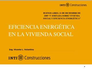EFICIENCIA ENERGÉTICA EN LA VIVIENDA SOCIAL