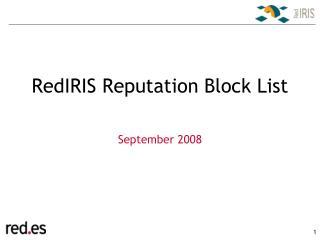 RedIRIS Reputation Block List
