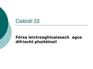 Caibidil 22