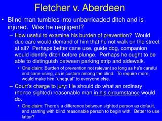 Fletcher v. Aberdeen