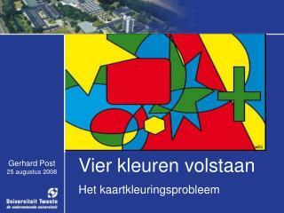 Vier kleuren volstaan Het kaartkleuringsprobleem
