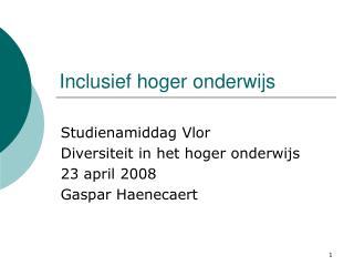 Inclusief hoger onderwijs