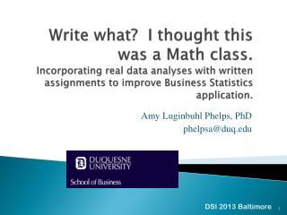 Amy Luginbuhl Phelps, PhD phelpsa@duq