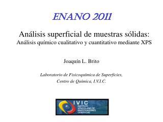 Joaquín L. Brito Laboratorio de Fisicoquímica de Superficies,  Centro de Química, I.V.I.C.