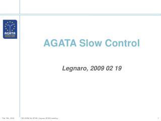 AGATA Slow Control