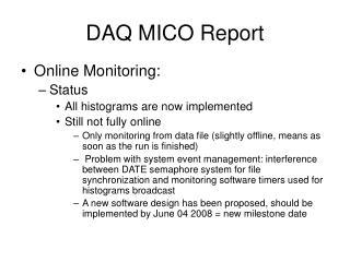 DAQ MICO Report