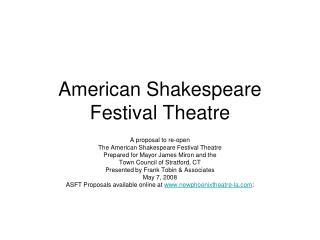 American Shakespeare Festival Theatre