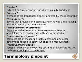 Terminology pinpoint