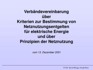 V erbände V ereinbarung Strom -  II +